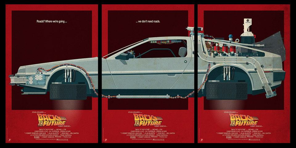 Beautiful Sci-Fi Film Vehicle Triptych Prints
