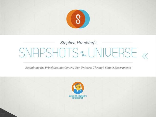 Stephen Hawking's iPad App: Snapshots of the Universe