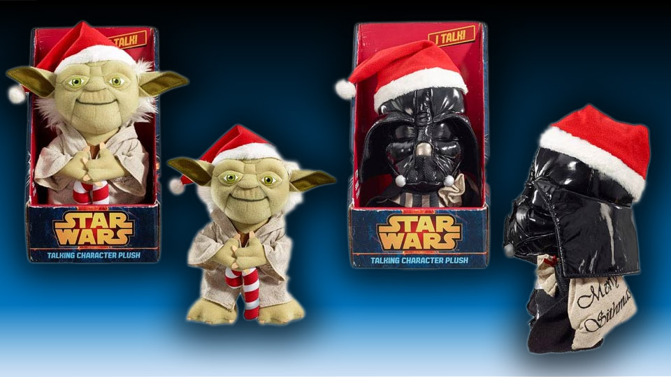 Star Wars Yoda and Darth Vader Talking Plushies