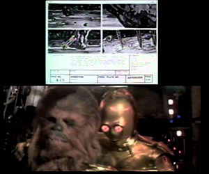 The Star Wars Asteroid Scene with Storyboarding