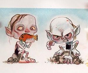 The Evolution of Gollum: Original Art