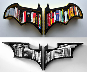 Awesome Batman Bat Symbol Wall Shelf