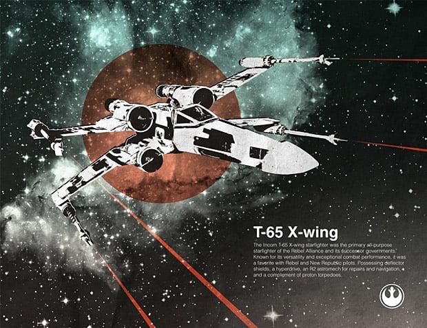 Terrific Star Wars Spaceship Illustrations