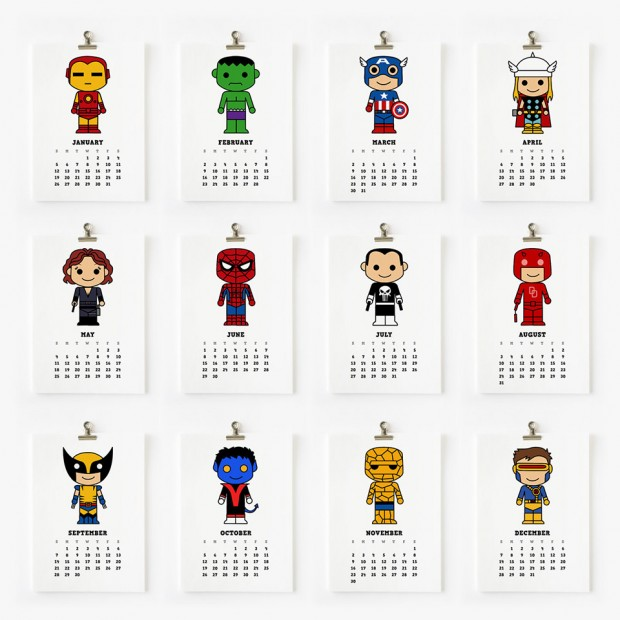 cute_superhero_star_wars_calendars_1