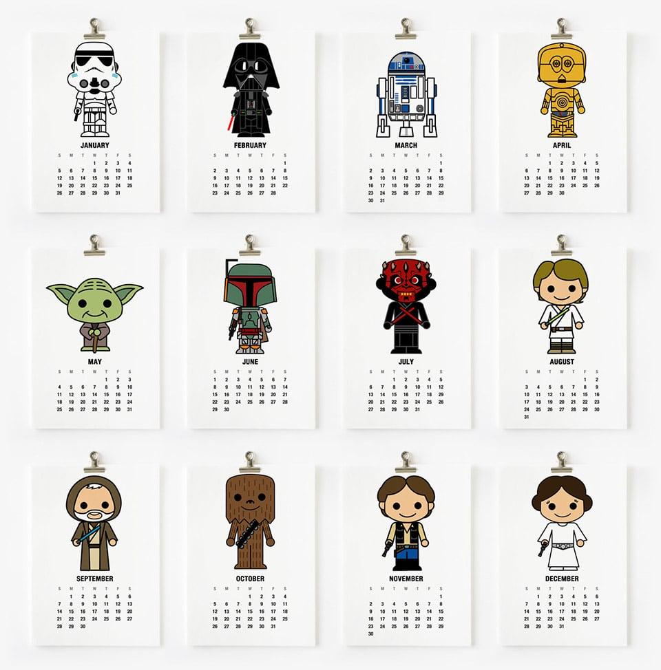 Star Wars Calendar 2016 Printable Free | Calendar Template 2016