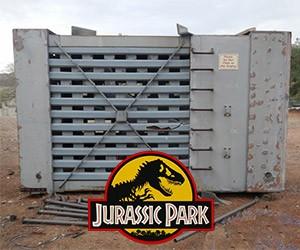 Original Jurassic Park Velociraptor Cage on eBay