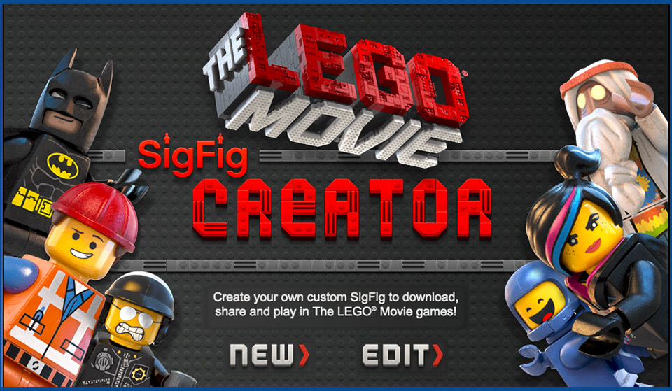 The LEGO Movie: Create Your Own Virtual LEGO Minifig
