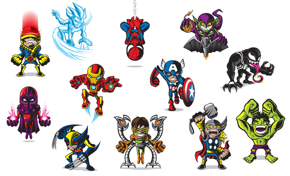 Marvel Minis Illustrations: Not So Super, Are We?