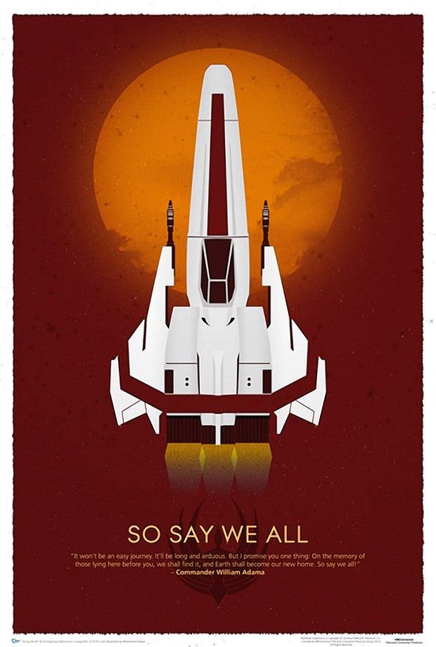 Battlestar Galactica 10th Anniversary Art Print