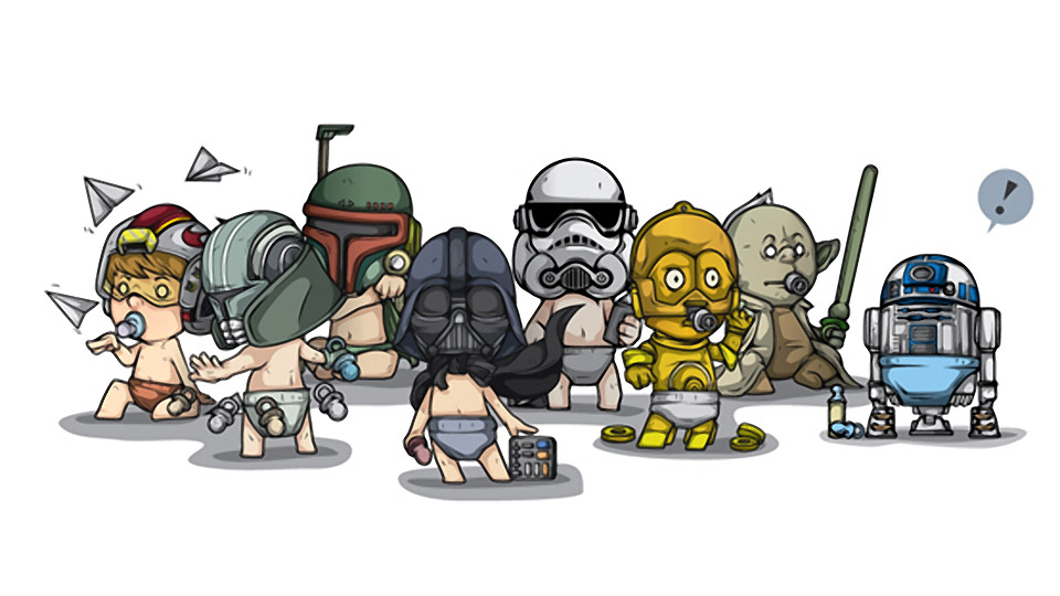 Star Wars Babies: Use the Nook, Luke