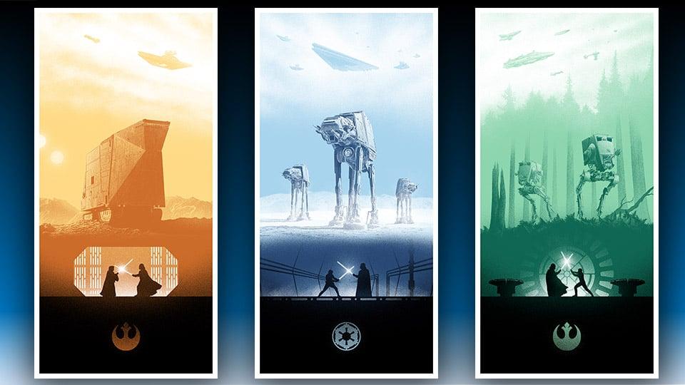 Beautiful Series of Star Wars Prints