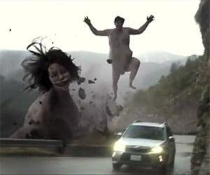 Subaru's Epic Attack on Titan Japanese Ad