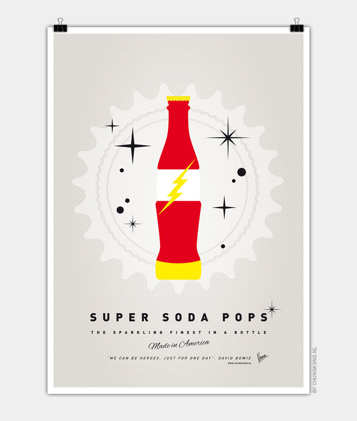 Super Soda Pops: Superheroes as Soda Bottles