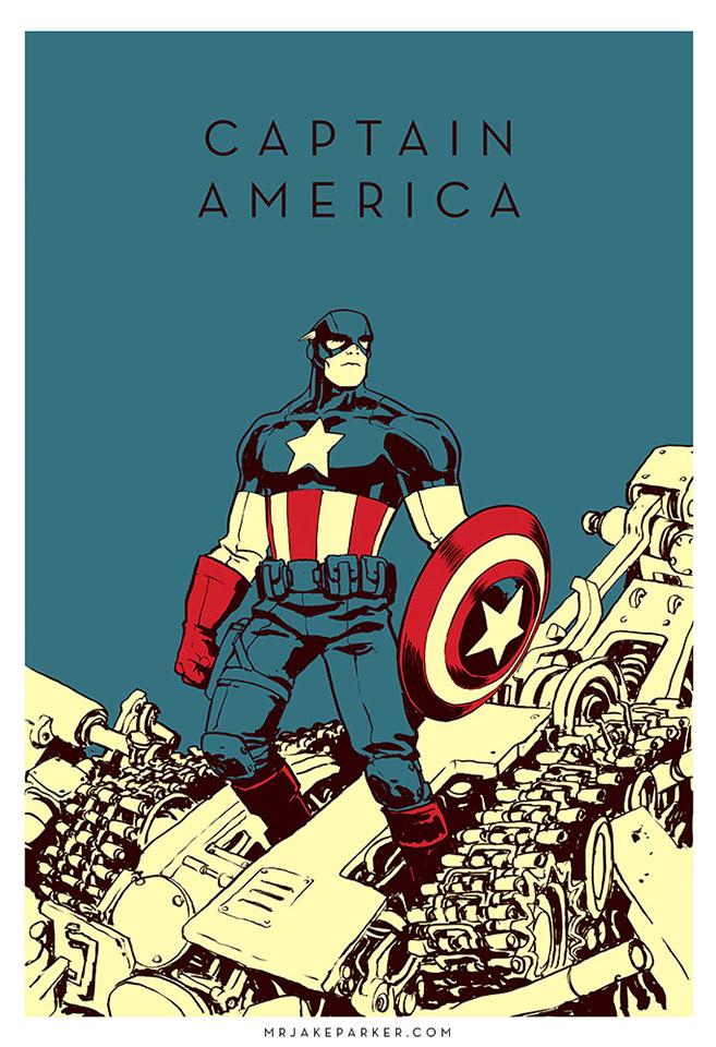 Terrific Superhero Artwork by Jake Parker