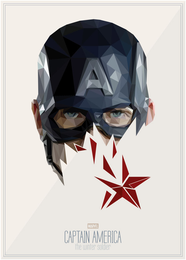 Geometric Superhero Illustrations