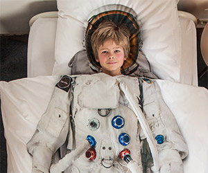 Off to Bed… Hey, Look at Me, I'm an Astronaut!