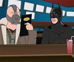 Batman & Bane Visit Buffalo Wild Wings
