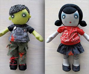 Adorably Creepy Handmade Zombie Dolls