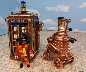 Doctor Who Fan Builds Steampunk TARDIS & Dalek