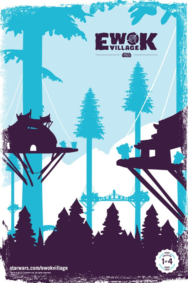 Star Wars Ewok Village Artwork