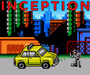Inception Retold in 8-Bit Cinema