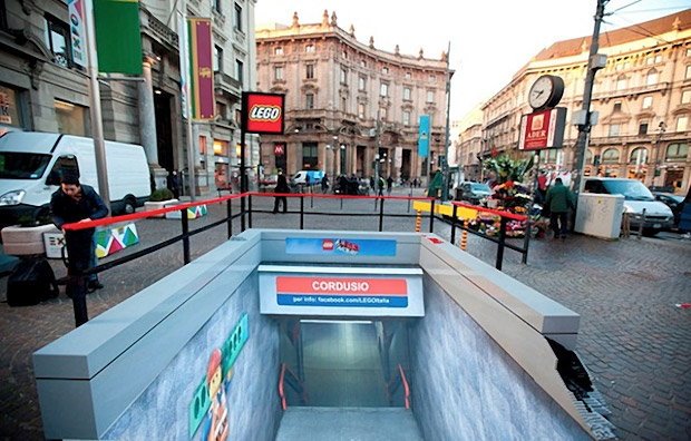 A LEGO Movie Subway Station in Milan