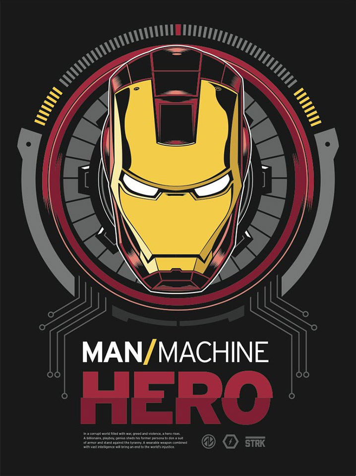 Man/Machine Hero Iron Man Artwork