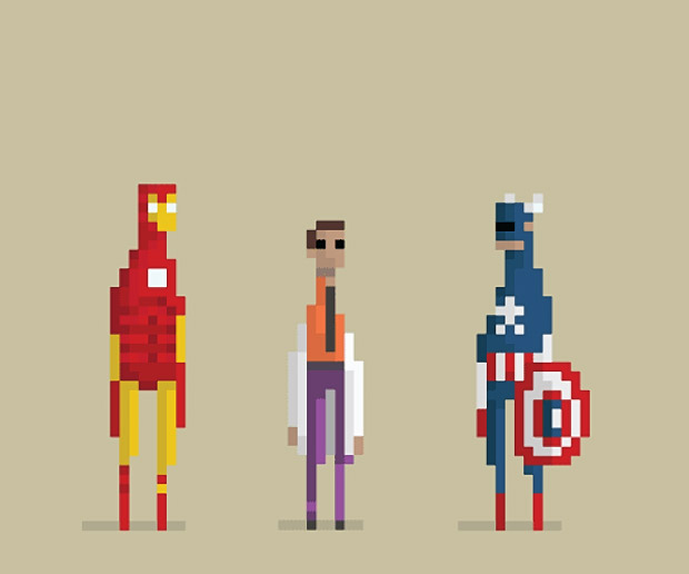 Pixelwood: Pixelated Hollywood Art