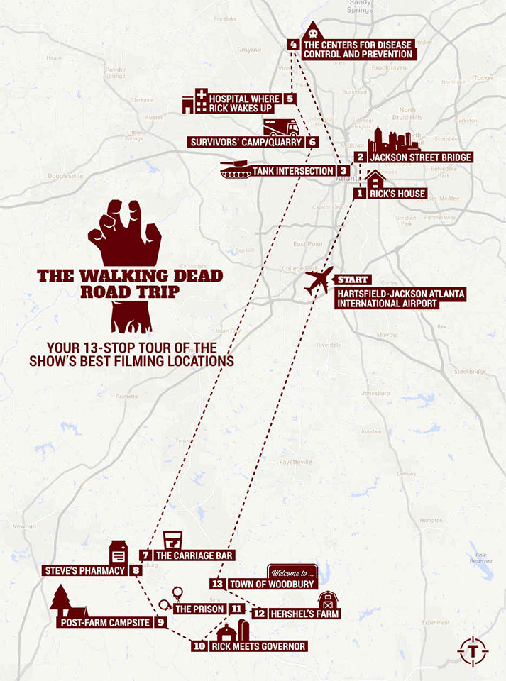 The Driving Dead: A Road Trip of The Walking Dead
