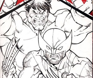 Todd Nauck: Speed Drawing Hulk and Wolverine