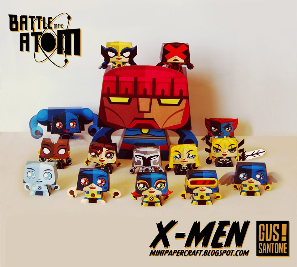 X-Men: Days of Paper Past, Papercraft Patterns
