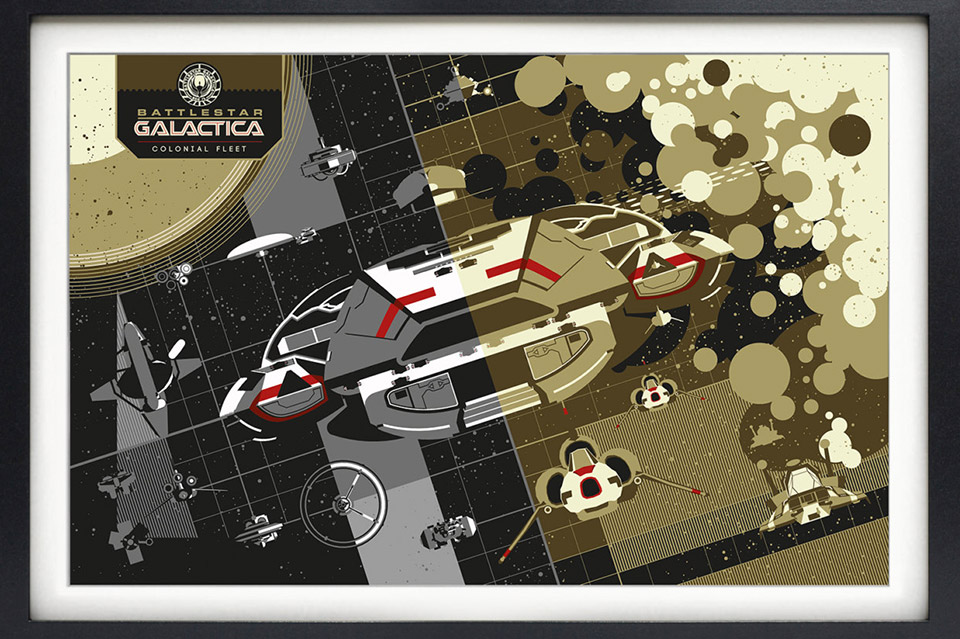 Battlestar Galactica Spaceship Prints