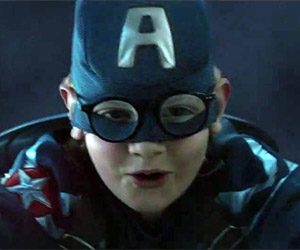 Captain America Kid Saves the World in Chevy Ad