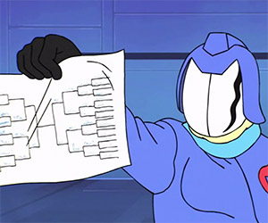 Cobra Commander Makes His NCAA Bracket Picks
