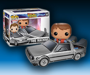 Marty McFly and the DeLorean Vinyls
