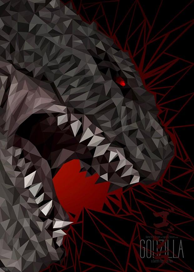 Awesome Godzilla Geometric Art