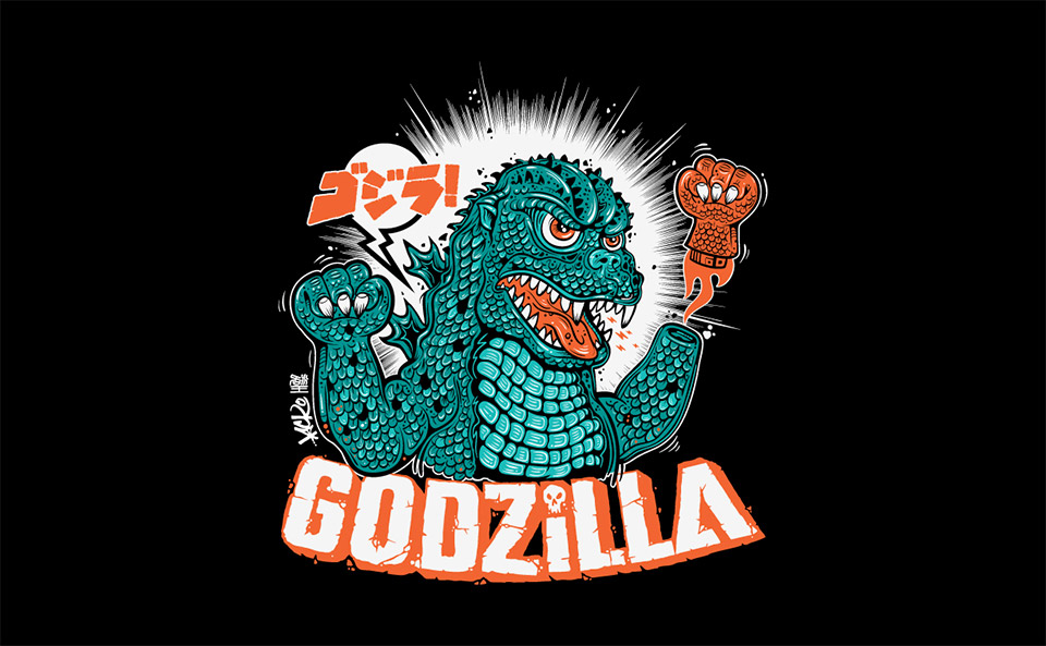 Limited Edition Godzilla Shogun Warrior T-Shirt