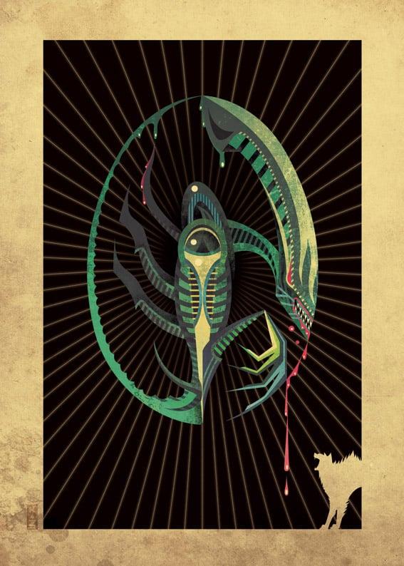 kaz_oomori_alien_geek_art_print_1