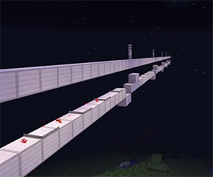 Simulating the Speed of Light in Minecraft