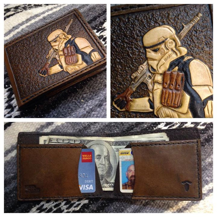 Custom Leather Star Wars Stormtrooper Wallet