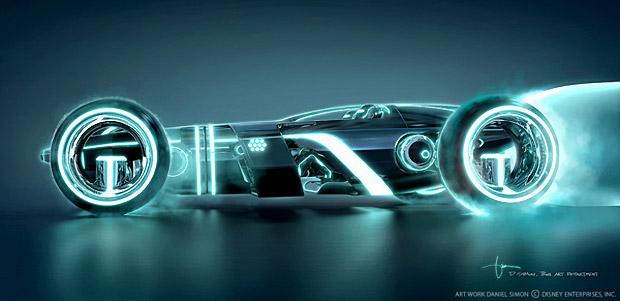 Tron Legacy: Concept Art for the Light Runner