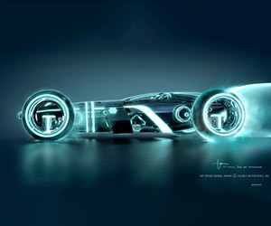 Tron Legacy: Concept Art for the Light Runner