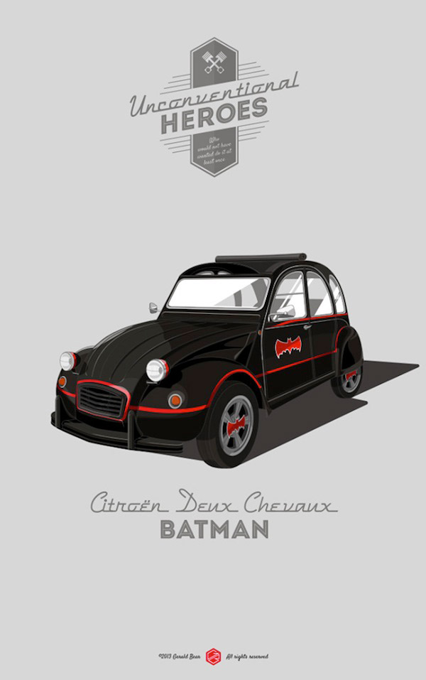 Unconventional Superhero Vehicles
