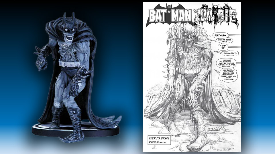Black and White Zombie Batman Statue