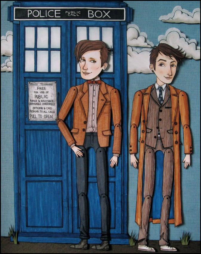 Doctor Who Original Paper Doll Artwork