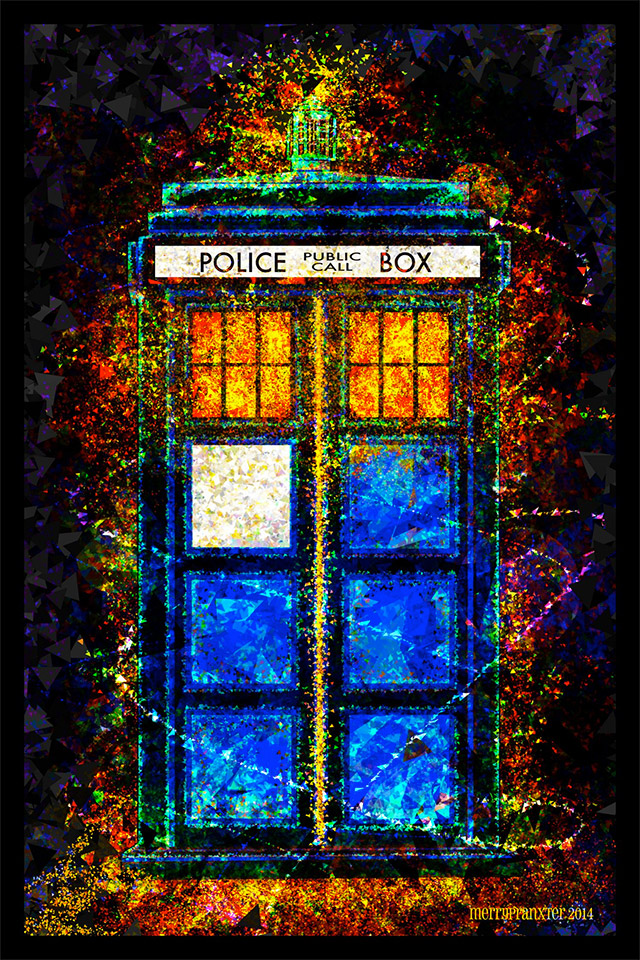 Doctor Who: Beautiful Digital TARDIS Poster Art