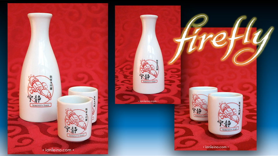 Beautiful Firefly Serenity Sake Set