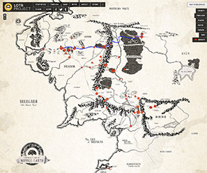 Interactive Lord of the Rings Map