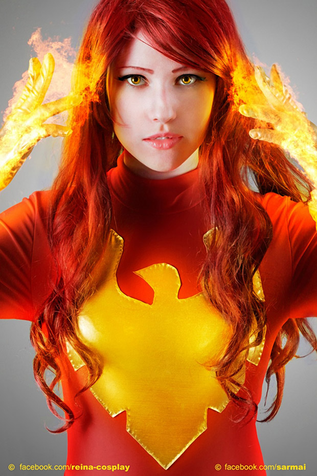Scary Real Dark Phoenix Cosplay