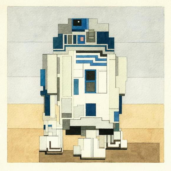Star Wars Limited Edition Blocky Artwork